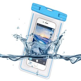 Wholesale Iphone Sport Case Strap - Waterproof Case Bag Sports Universal Waterproof Pouch 100 Feet IPX8 with Touch Responsive Screen + Neck Strap for iphone 6 6S Plus