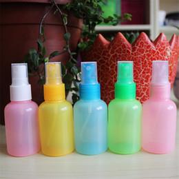 Wholesale Hand Sanitizer Bottles Wholesale - Wholesale- 12pcs Lot Hot Sale 30ml 50ml 75ml Mini Lovely Spray Cap Bottles Travel Portable Bottle For Hand Sanitizer Free Shipping
