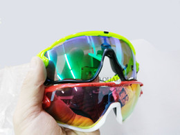 Wholesale Polarized Cycling Sunglasses Lens - High Quality Fashion 5 Lens Brand Polarized Jawbreaker Sunglasses For Men Women Sport Cycling Bicycle Mens Sunglasses Sun GlassesGoggle