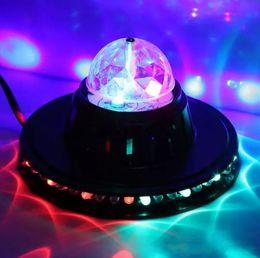 Wholesale Rgb Led Ufo - Crystal Moving Head RGB Color Auto Rotating Changing UFO Sunflower LED Light Home Party Stage KTV Disco Dancing Bar DJ Club LLFA