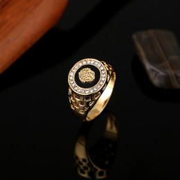 Wholesale Gold Filled Rings Mens - Brand New High Quality CZ Diamond Superhero Mens Rings Gold Filled 2016 Fashion Figure Ring Black YSMR005
