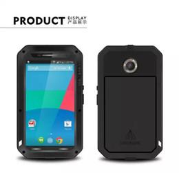 Wholesale Nexus Case Waterproof - Love Mei Aluminum Waterproof PowerFull Metal Case For MOTO Nexus 6 Gorilla Glass Free Shipping