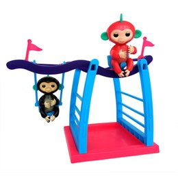 Wholesale Wholesale Baby Swings - Fingerling Swing Fingerling Monkey Stents Plastic Swing Pole Baby Toys For Kids Christmas Gifts OPP Pack DHL
