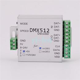 Wholesale Led Strips Dmx - Wholesale-DMX512 Decoder DMX Controller For WS2812B WS2811 5V,WS2811 12V,WS2801 5V,WS2801 12V LED Strip Modules control 2048 pixels