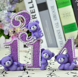 Wholesale Table Decorations Lavender - 1314 Lavender bear Decoration furnishing articles wedding and bedroom adornment free shipping 2015 Wedding Style Free Shipping In Stock