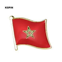 Envío gratis la Bandera de Metal de Marruecos Bandera Pin 10 UNIDS 0001 desde fabricantes
