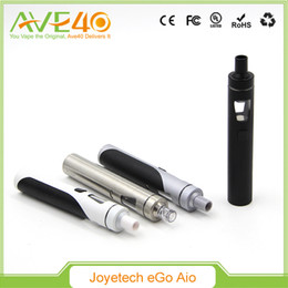 Wholesale Ego Led Lights - Original Joyetech EGo AIO Quick Start Kit All-in-one with With 1500mAh Battery and 2ml e-Juice Capacity e Liquid illumination LED Light
