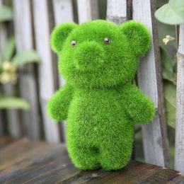 GrassLand gazon artificiel Mignon petit animal belle ours affichage décoration soulager la fatigue oculaire Faux herbe articles d'ameublement DT001 ? partir de fabricateur