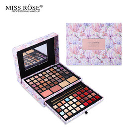 Wholesale Blush Eyeshadow Lipstick - Makeup Sets Professional Flower Makeup Cosmetic Set Gift For Women Eyeshadow Lipstick Concealer Blush Mirror Kits Make Up Brand MISS ROSE