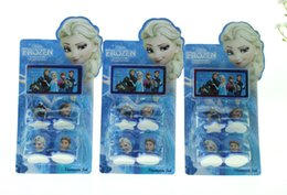 Wholesale Stamper Set Cartoon - Christmas stamper set Cartoon Frozen Children's Toy Great Frozen Anna Character Princess Stamp Elsa factory price Free shipping by DHL
