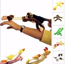 animali da slittamento Sconti Flying Animal Urlando Slingshot Peluche Peluche Child Fantastic Funny Flying Screaming Screaming Slingshot Peluche KKA3443