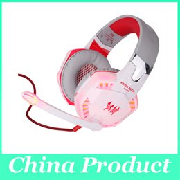 Wholesale music games pc - Best PC Gamer casque EACH G2000 Stereo Hifi Gaming Head Phones With Microphone Dazzle Lights Glow Game Music Headset fones 010007