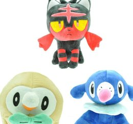 Wholesale Plush Sea - POKE cartoon plush toys stuffed anime dolls Wood owl ball spot sea lion cat plush toy Pocket Dolls Children Toys KKA3527