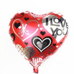 Wholesale Mylar Balloons Air - free shipping heart shape foil balloons birthday party decoration mylar helium balloon wedding i love you air ballons