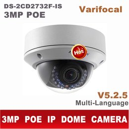 Wholesale Ip Video Camera Zoom - DS-2CD2732F-IS ds-2cd2732f-i(s) 3MP varifocal zoom IP dome camera cctv POE outdoor cam video surveillance camera 2cd2732f-is