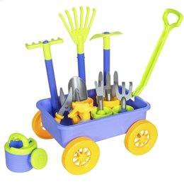 Vagão de jardim BCP com 8 ferramentas de jardinagem divertido brinquedo de crianças jogar conjunto de