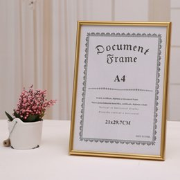 Wholesale Documents File - Document frames PS foam photo gold Frame mirror with PVC frame A4 certificate box certificate file box business license box Report