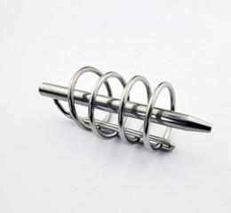 Wholesale Sm Sounding Tube - Male Stainless steel 4Rings Bondage TUBE Urethra Chastity Dilatator Gay SM Fetish TB011