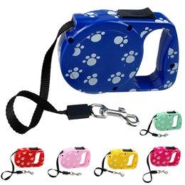 Wholesale Led Paw Print - 10 Ft Retractable Extending Extendable Dog Puppy Pet Leash Leads with Paw Print