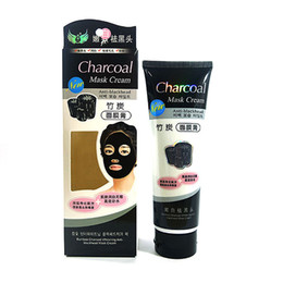 Wholesale Charcoal Remove Blackhead - Anti-Blackhead Mask Cream Bamboo Charcoal Deep Cleansing Pig Nose Pores Blackhead Remove Clear Face Skin Care free shipping DHL 60015