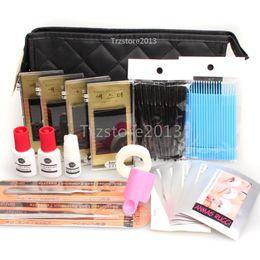 Wholesale Extension Eyelash Kit Pro - Wholesale-WonderLash Starter Kit Pro Semi Permanent Individual Eyelash Extensions C Curl