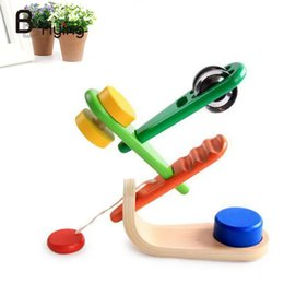 Wholesale Toddlers Music Instruments - Wholesale- Wooden Music Instrument Set Babys Toddlers Educational Toys Bells Creative