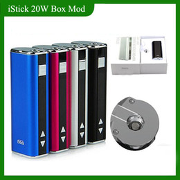 Wholesale Ego Vw - iStick 20W 30W 2200mah Battery VW Mod box Variable Voltage & Wattage Device With OLED Screen ego 510 Thread Kit Simple pack DHL free