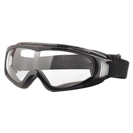 Wholesale Tactical Airsoft Protection Goggles Glasses - Wholesale-Airsoft Goggles Tactical Paintball Clear Glasses Wind Dust Protection Motorcycle, Black