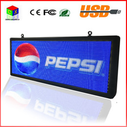 Wholesale Outdoor Display Screens Advertising - LED Scrolling Sign Text LED Advertising Screen   RGB Full Color Programmable Image Video Outdoor LED Display board