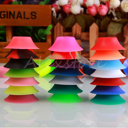 Wholesale Ego T Sucker - Ego Suckers e cigarette silicone sucker rubber base holder silicon display stands rubber caps pen stand for battery ego t evod ecigs vape