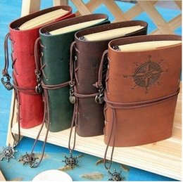 Wholesale Note Travel - Vintage Diary Notebook Pirate Anchor Decor Traveler's Note Books Notepad Planner PU Leather Cover Blank Notebooks