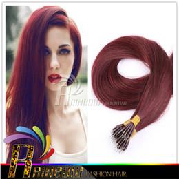 Wholesale Indian Remy Hair Bulk Blonde - Bulk Stock 18''- 28'' black brown blonde Nano Rings 300s lot 1g s Indian 100% Human remy Hair Extensions