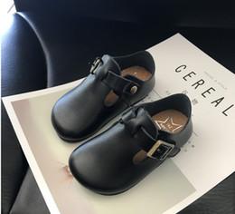 Wholesale Boys Korean Shoes - Children's shoes leather art style children's shoes 2017 autumn new Korean version boys and girls casual shoes