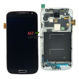 Wholesale galaxy s4 lcd black - Wholesale-100% Pass tested l LCD For Samsung Galaxy SIV S4 i9500 With Touch screen + Frame+ Assembly Black