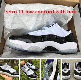 Wholesale Fibre Carbon - Wholesale Retro 11 low concord men basketball shoes with originals box top quality real carbon fibre free shipping