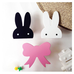 Wholesale Wooden Hangers Baby Children Kids - Wholesale- Cute bunny wooden clothes hook for kids room wall decorate children room ECO friendly rabbit hanger hook baby room decoration