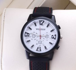 Wholesale Military Pilot Aviator - Weijieer watch Cool Black for Military Pilot Aviator Army Style Silicone For Watches Men Boy Luxury Analog Outdoor Sport Racing Wrist Watch
