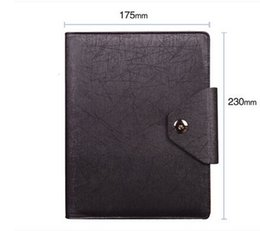 Wholesale A5 Book - Creative Stationary Faux Leather Cover A5 Business Notebook Diary Business Livros Brown & Black 160 Sheets Note Book Official