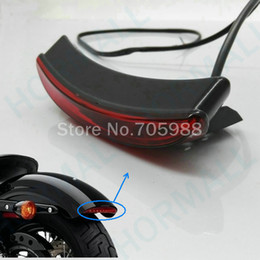 Wholesale chopper brake tail light - Universal red Motorcycle Tail light motorcycle Brake Light For Harley Bobber Chopper Rat
