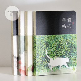 Wholesale Book Blank Pages - Wholesale- MOUSRS 4 Designs Cat School Notebook A5 Planner Organizer Journal Book With Blank Pages Office School Supplies Nootbook