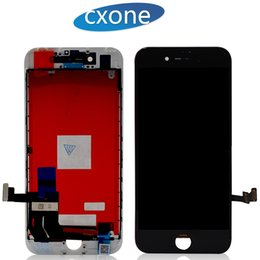 Wholesale Iphone Logo - For iPhone 7 7plus plus Lcd Original Quality Touch Screen Black White with Frame Digitizer Complete Assembly with LOGO Free Shipping by DHL