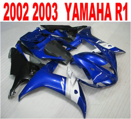Wholesale customize yzf r1 - Customize injection fairings kit for YAMAHA R1 02 03 fairing body kits yzf r1 2002 2003 blue white black motobike parts LQ43