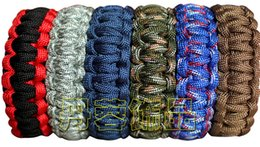 Wholesale Paracord Buckles Whistles - New 550LB Outdoor whistle Bracelet Survival Escape Life-saving Bracelet Paracord Hand Made With Plastic Buckle for 2016 new hot selling
