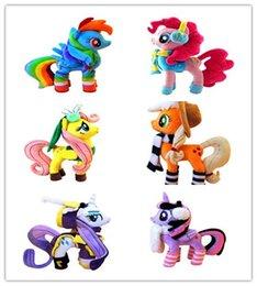Wholesale Plush Mlp - 1pcs 35* 40cm 350g mlp High quality pp cotton horse unicorn New Year Limited edition model plush doll toy