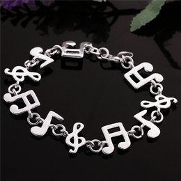 Wholesale High Fashion Music - Hot sale best gift 925 silver Music Bracelet DFMCH242, Brand new fashion 925 sterling silver Chain link bracelets high grade
