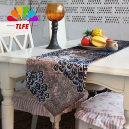 Wholesale Tea Table Covers - TLFE Table Runner Hotel home Textile garden household european Table Cloth Cover wedding decoration tea table stand runner ZQ030