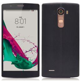 Wholesale Dual Sim Phone G4 - 5.5 inch G4 Unlocked Phone MTK6572 Dual Core 1.3GHz 512MB RAM 4GB ROM Dual SIM 5MP+5MP Camera Smart Phone 3G WCDMA GPS Andriod 4.4 DHL