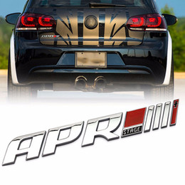 Wholesale audi a4 rs4 - Mayitr 3D Auto APR Stage III Emblem Car Tail Side Fender Sticker Badge For Audi R8 RS4 RS5 A4 Golf VW
