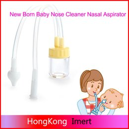 Wholesale Plastic Safety Noses - New Born Baby Safety Nose Cleaner Vacuum Suction Nasal Aspirator for mom 's love and good for baby