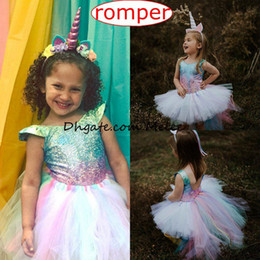 Wholesale One Piece Bodysuits - Ins mermaid Romper Rainbow Bodysuits Baby Girls Rompers Newborn Clothes Baby Onesies Infant Jumpsuit baby One Piece Clothing